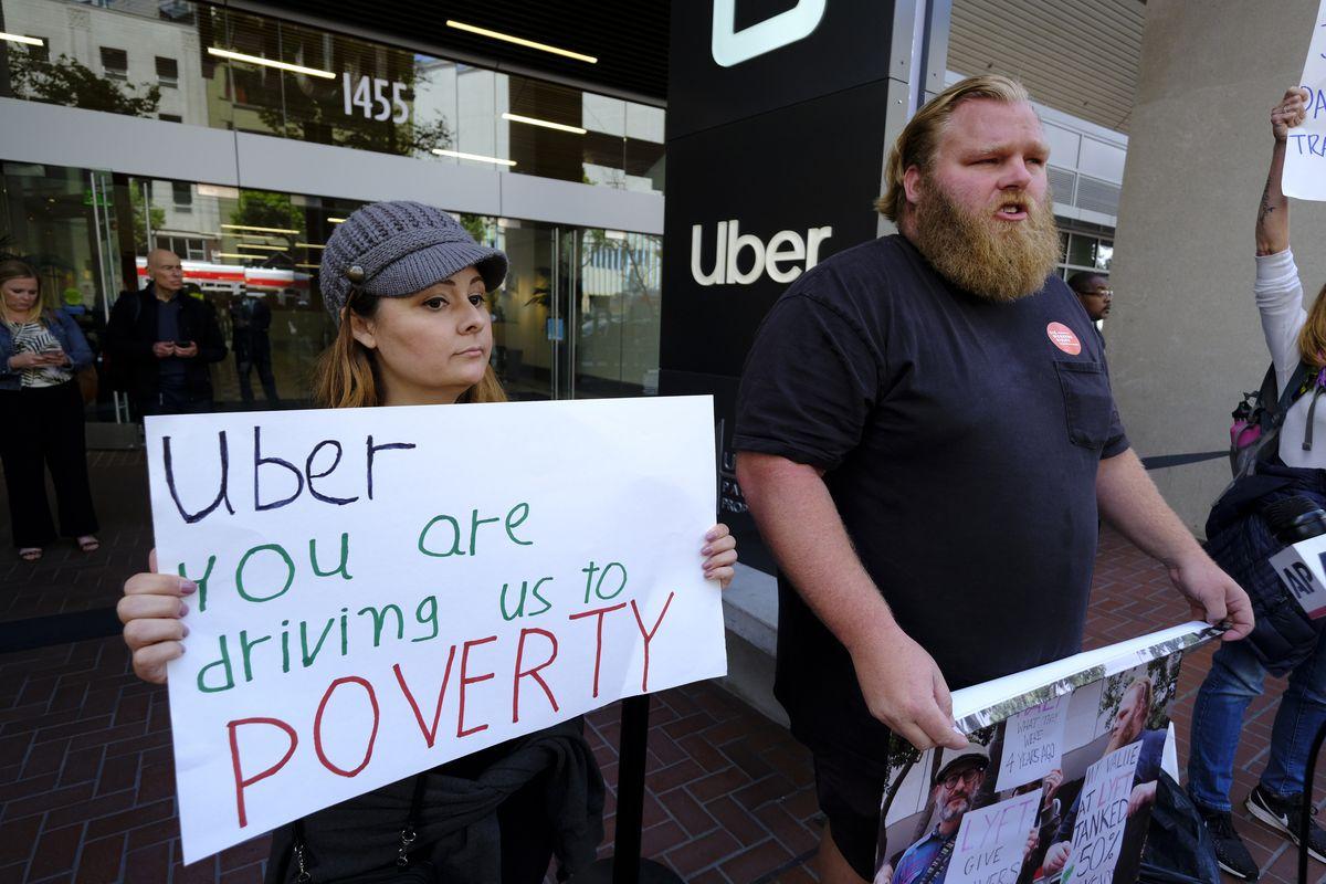 Uber protest in San Francisco