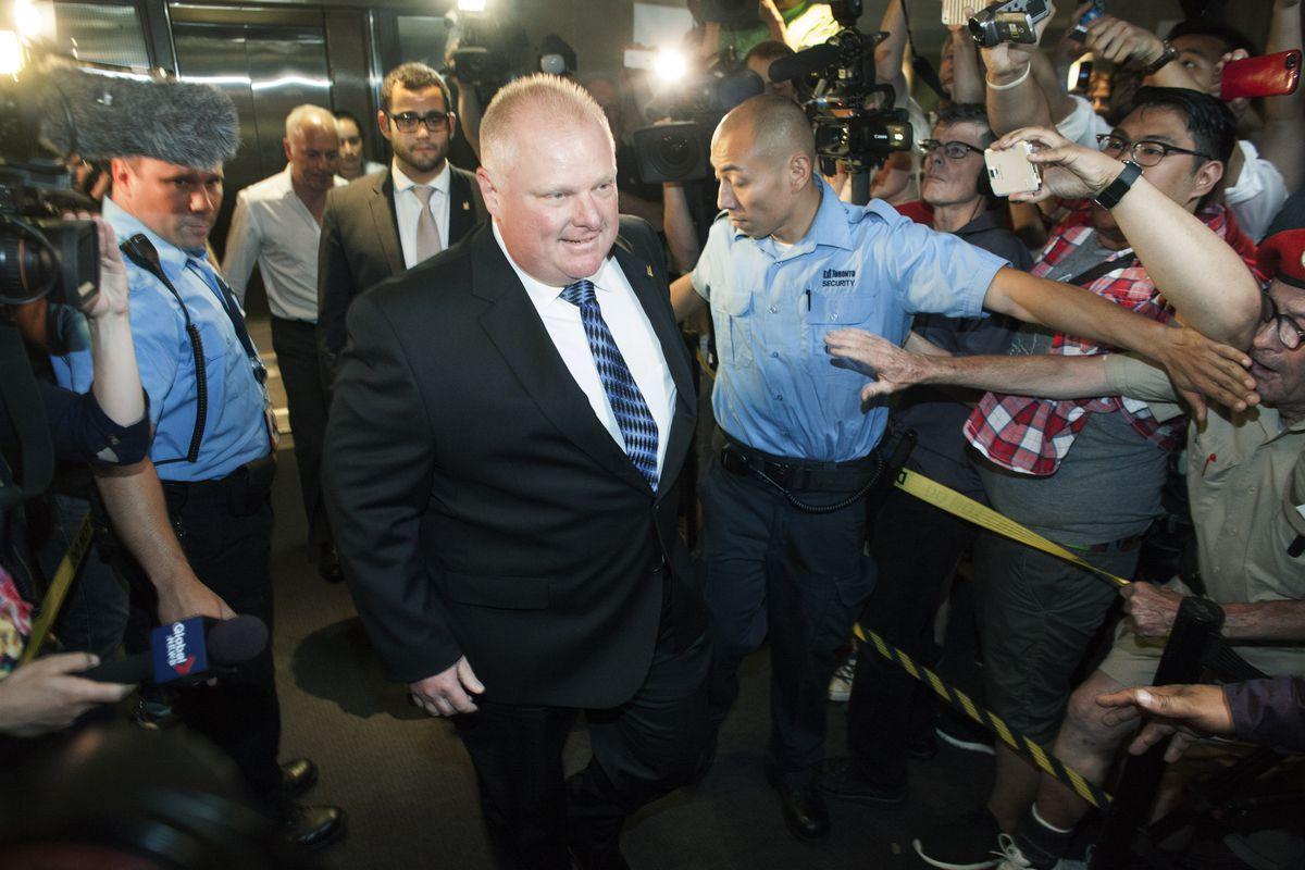Toronto Mayor Rob Ford Returns To Work After Rehab