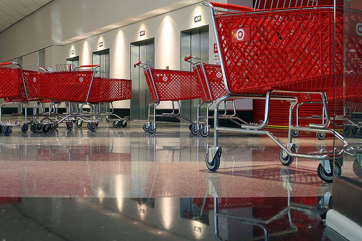 Target shopping carts http://www.flickr.com/photos/intangible/2355572339/