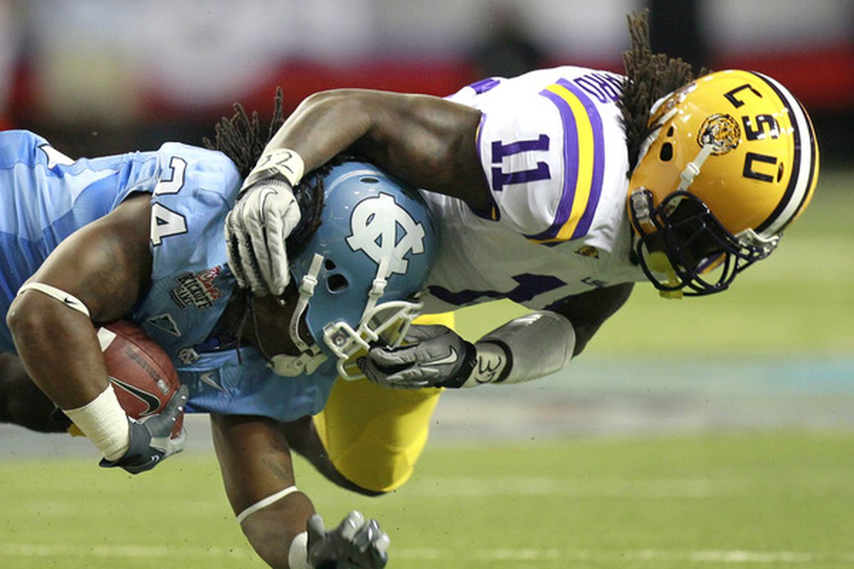 LSU's Kelvin Sheppard is another prospect that could help our pass rush.  (Photo by Kevin C. Cox/Getty Images)