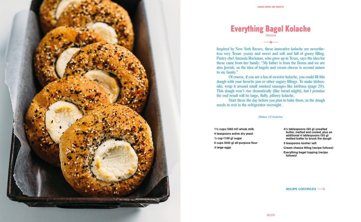 Manana's everything bagel kolache recipe in The Austin Cookbook
