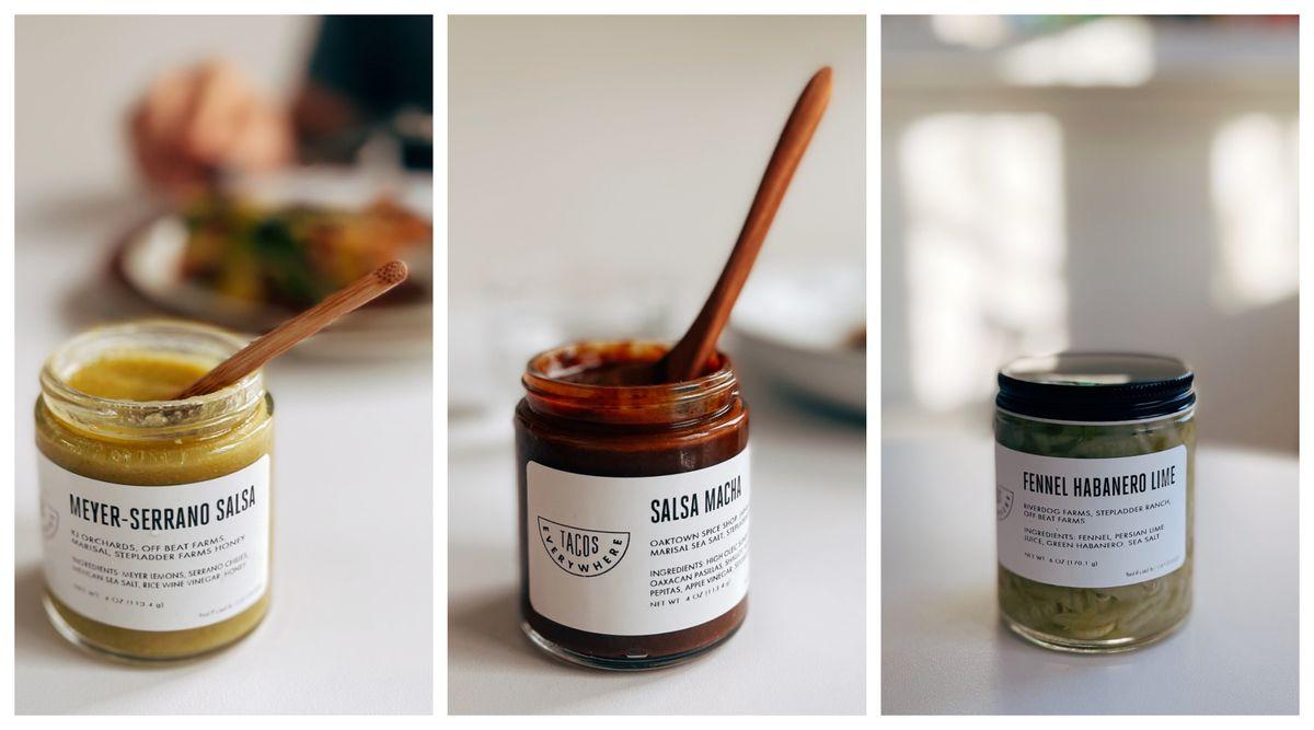Three jars of salsa