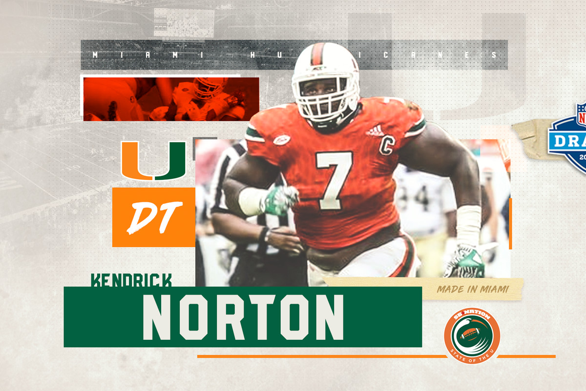 68e6a5e1610 2018 NFL Draft: Miami Hurricanes DT Kendrick Norton Drafted by the Carolina  Panthers