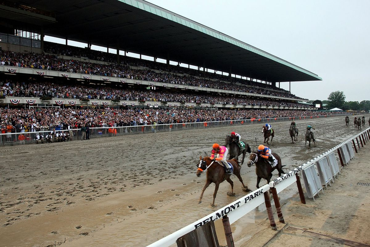 ELMONT, NY - JUNE 11: Jose Valdivia, Jr. rides Ruler On Ice to victory during the running of the 143rd Belmont Stakes at Belmont Park on June 11, 2011 in Elmont, New York.  (Photo by Nick Laham/Getty Images)