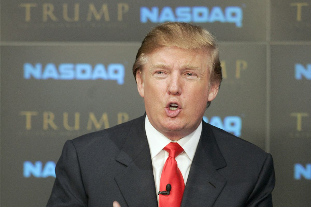 Donald Trump, amongst stocks.