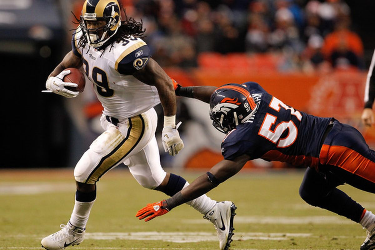 Running back Steven Jackson of the St. Louis Rams contributes in more ways than one.