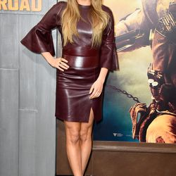 In Alexander McQueen at the premiere of 'Mad Max: Fury Road.'