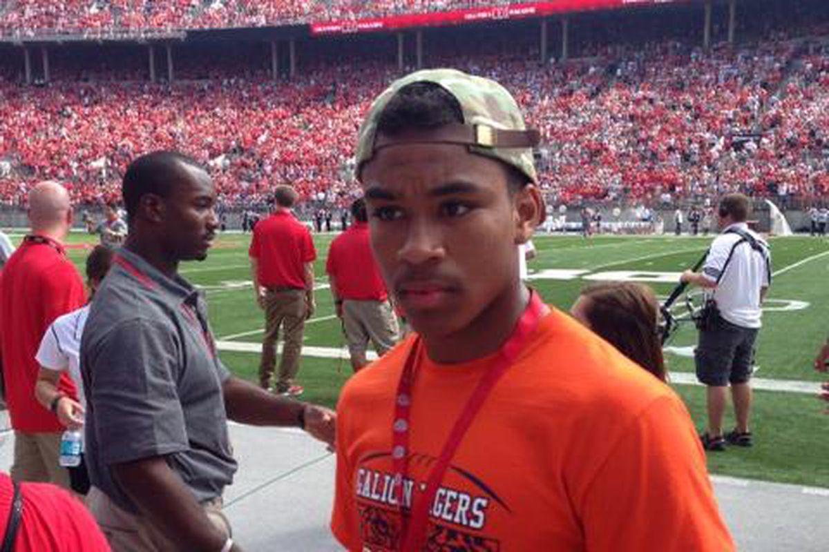 2015 Galion DB Cario Davison enjoyed his first time in the 'Shoe.