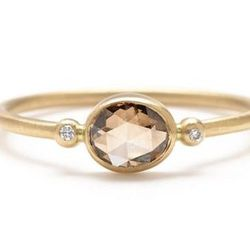 "<b>Rebecca Overmann</b> <a href=""http://www.greenwichjewelers.com/shop/category/engagement-rings/products/rebecca-overmann-champagne-diamond-ring"">Champagne Diamond Ring</a>, $2590 at <b>Greenwich Jewelers</b>"