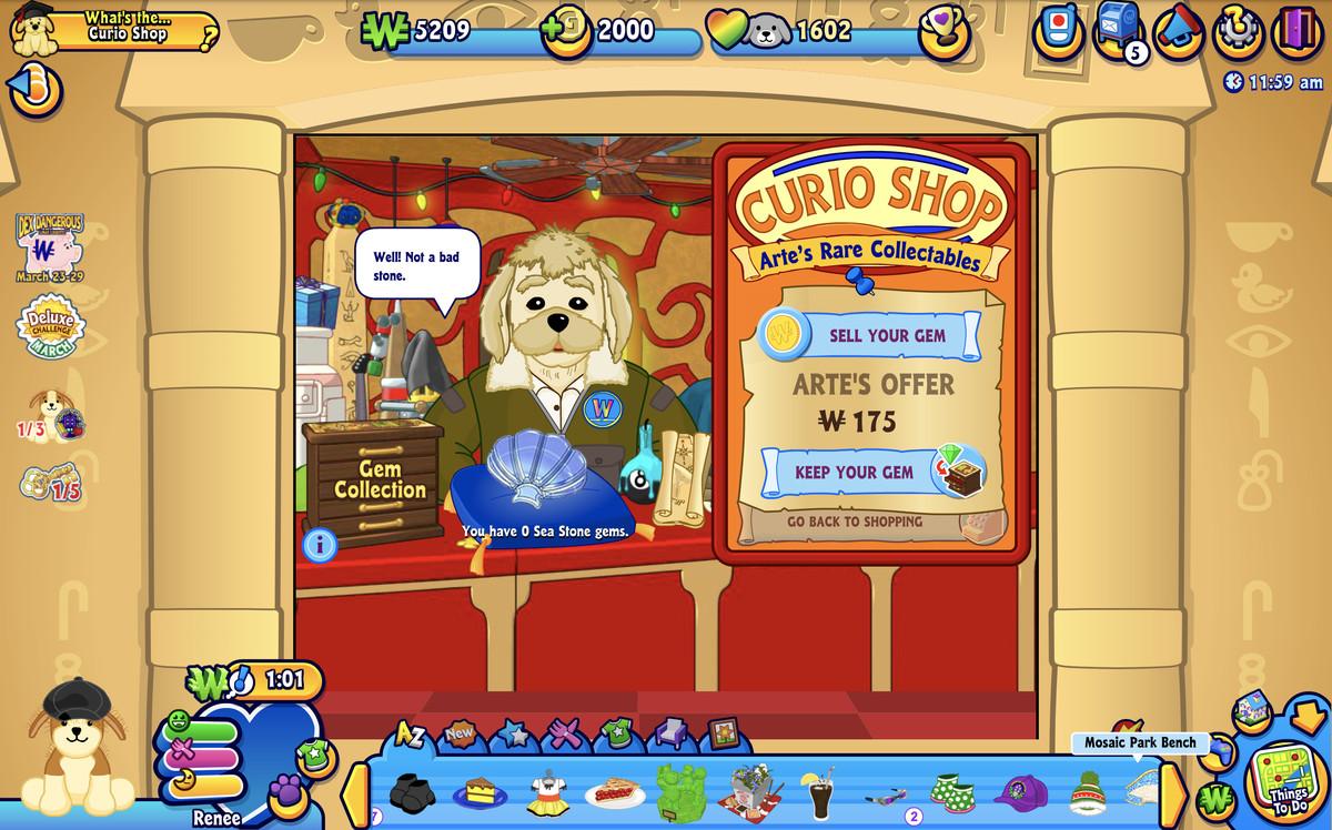 the curio shop in webkinz