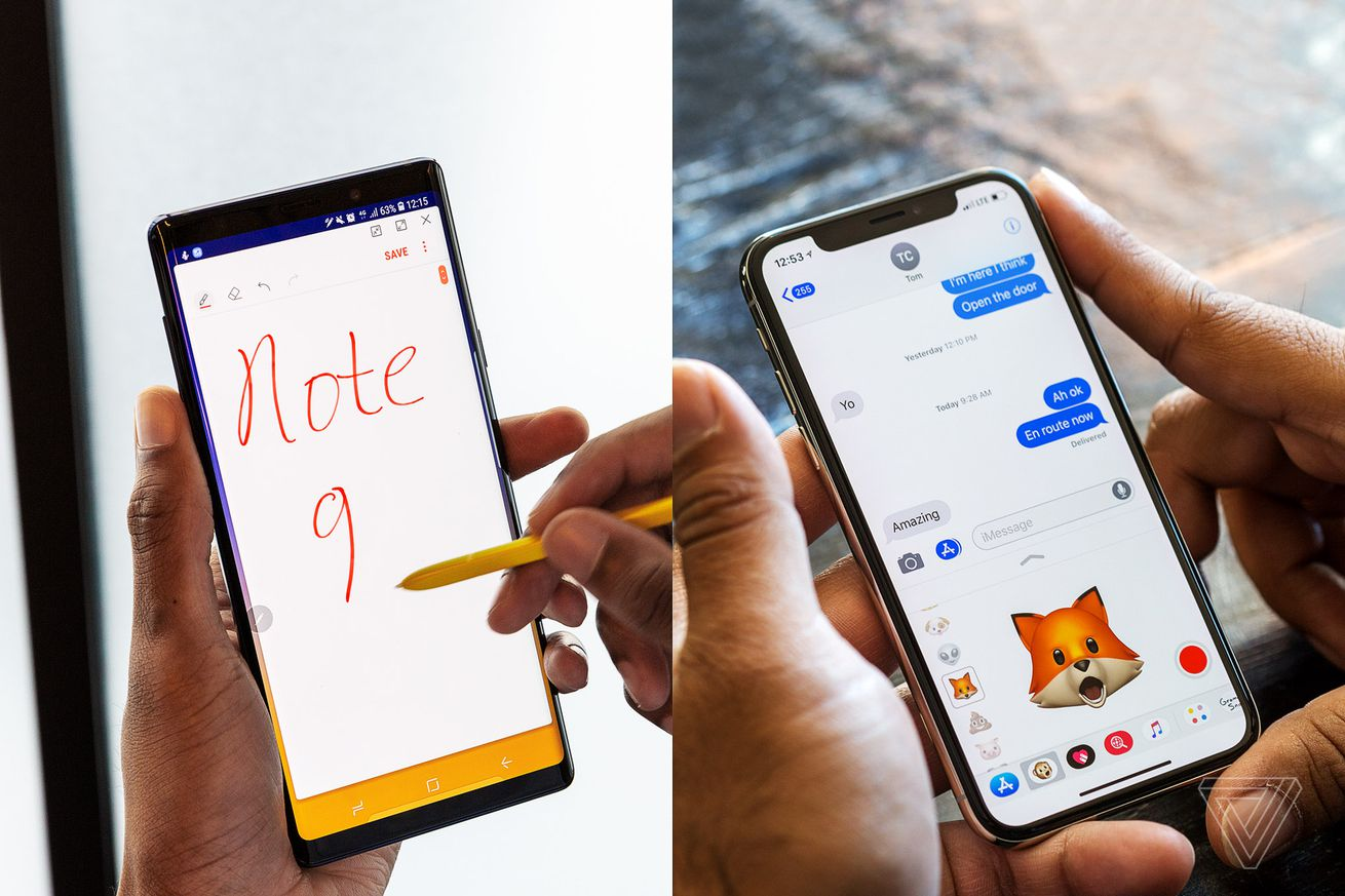 how samsung s galaxy note 9 stacks up against the iphone x