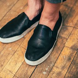 <b>What was an item you spent a lot of money on that you regret buying?</b> <br> I bought a ton of flats last season without trying them on and testing the comfort factor—huge mistake.