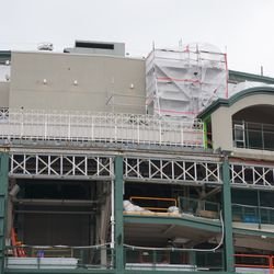 Upper deck, above the marquee