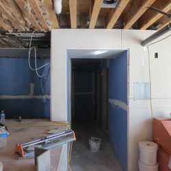 This area will be outfitted like a walk-in kitchen.