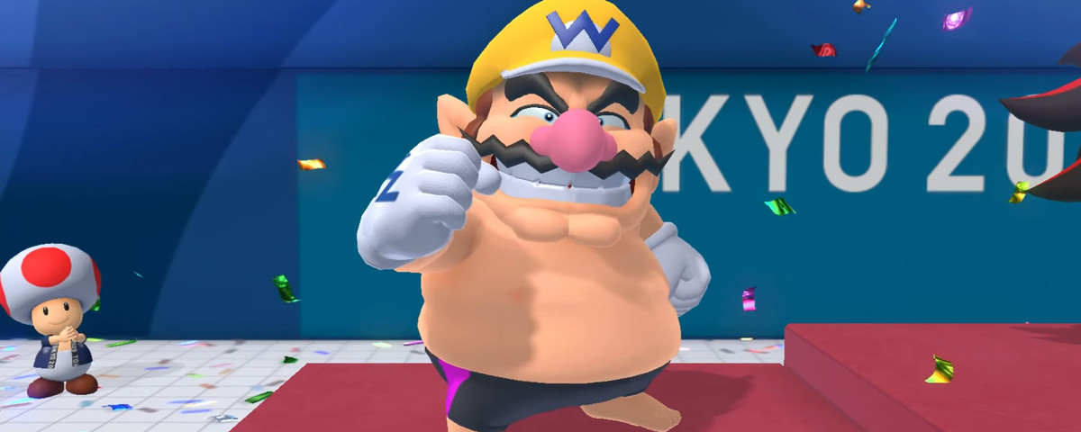 wario celebrating after a big win