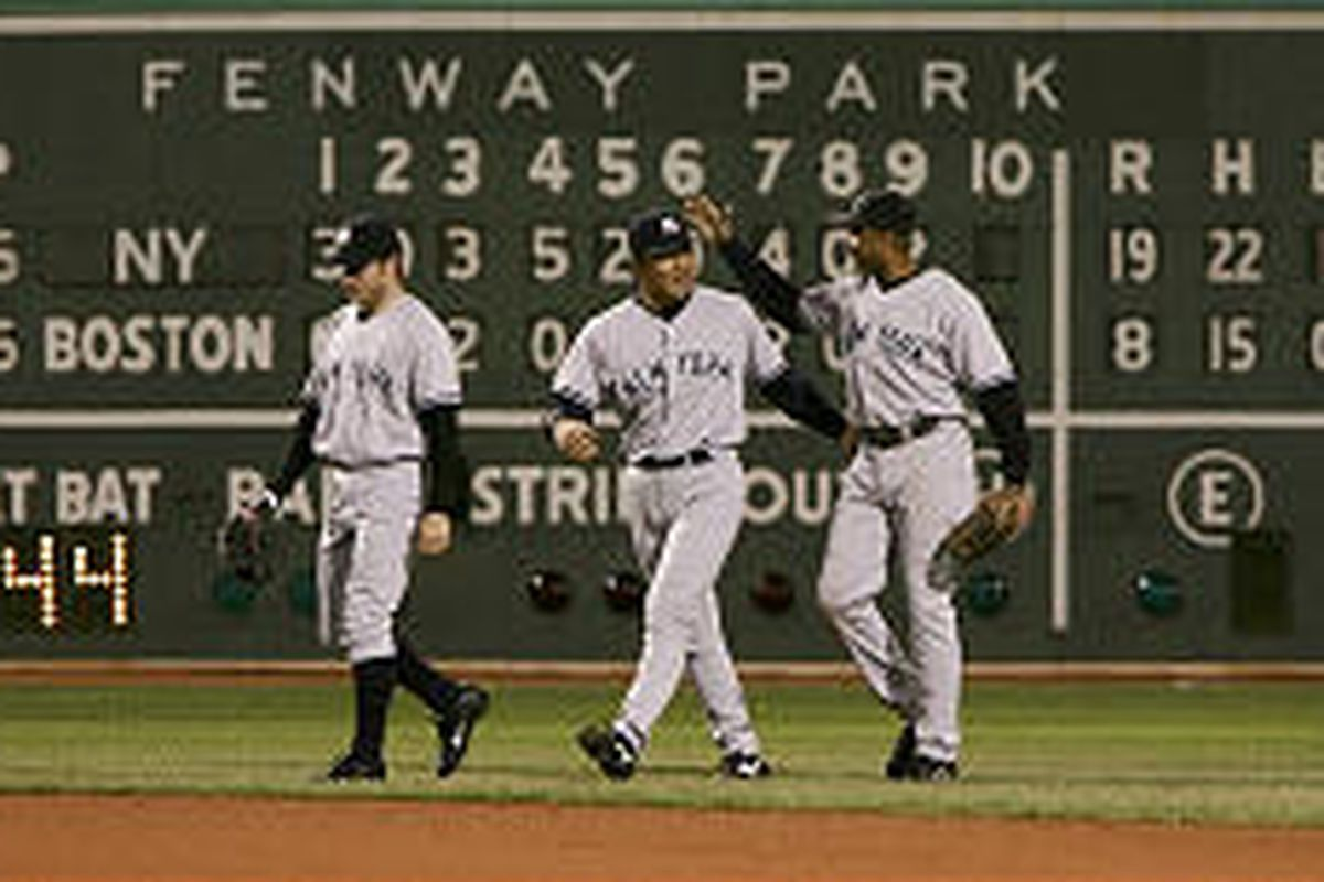 The New York Yankees were all smiles after bashing Boston to take a surprising 3-0 lead in the ALCS.