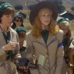 Of course, we couldn't forget Phyllis' runway-ready rendition of a troop uniform.