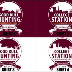 College Station Skyline t-shirts