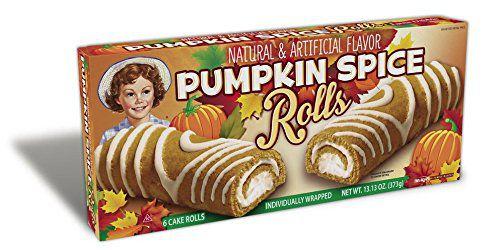 Little Debbie Pumpkin Spice cake rolls