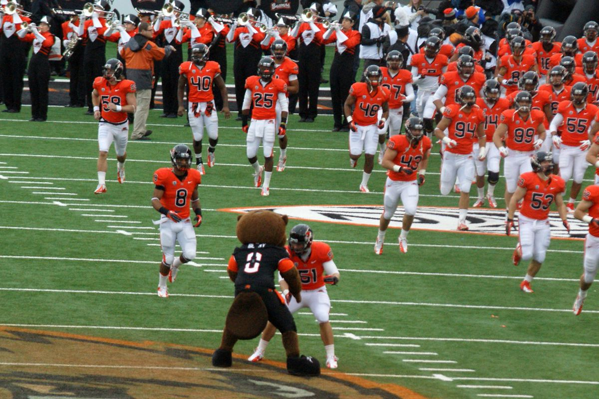 Oregon St. fans can start to play half their game days this fall, with 6 of 12 kickoffs and TV assignments set.