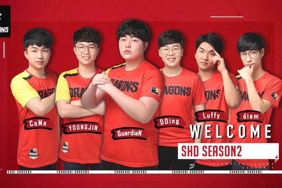 Resultado de imagem para shanghai dragons 2019