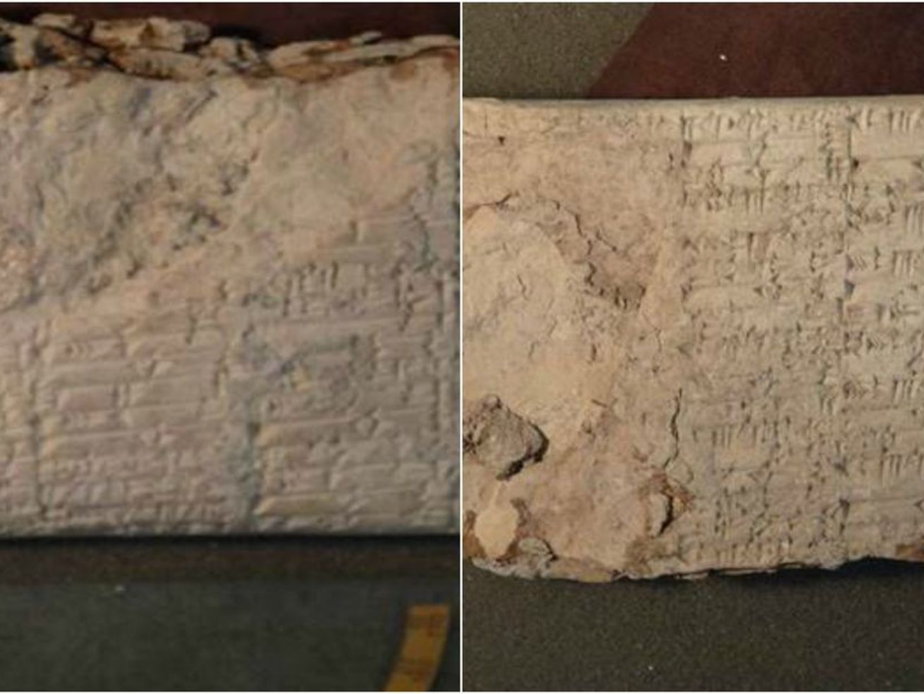 Some of the cuneiform tablets confiscated by the DOJ.