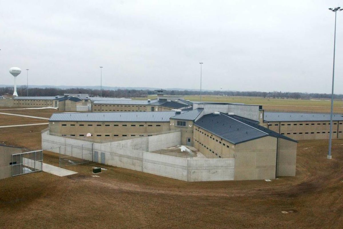 In this photo taken Feb. 24, 2004, a cell house at Thomson Correctional Center is seen from one of the guard towers at the facility north of Thomson.