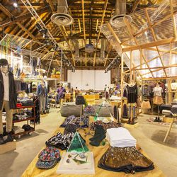 In addition to highlighting new designers and even members of their own team (be sure to hit the men's section for natural wood carved ray-guns and brass knuckles designed by a staffer), UO Rialto is heavy on vintage. Men's and women's departments are mix