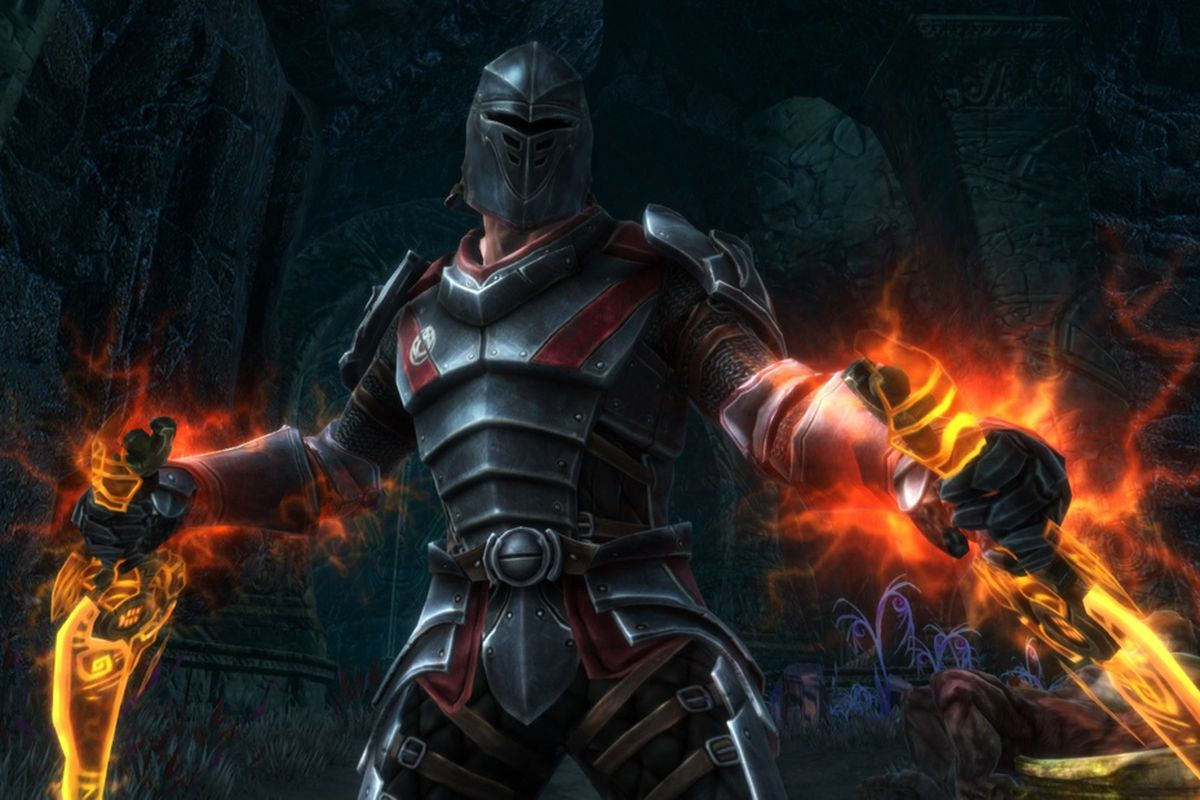 Kingdoms of Amalur: Reckoning knight with two blades