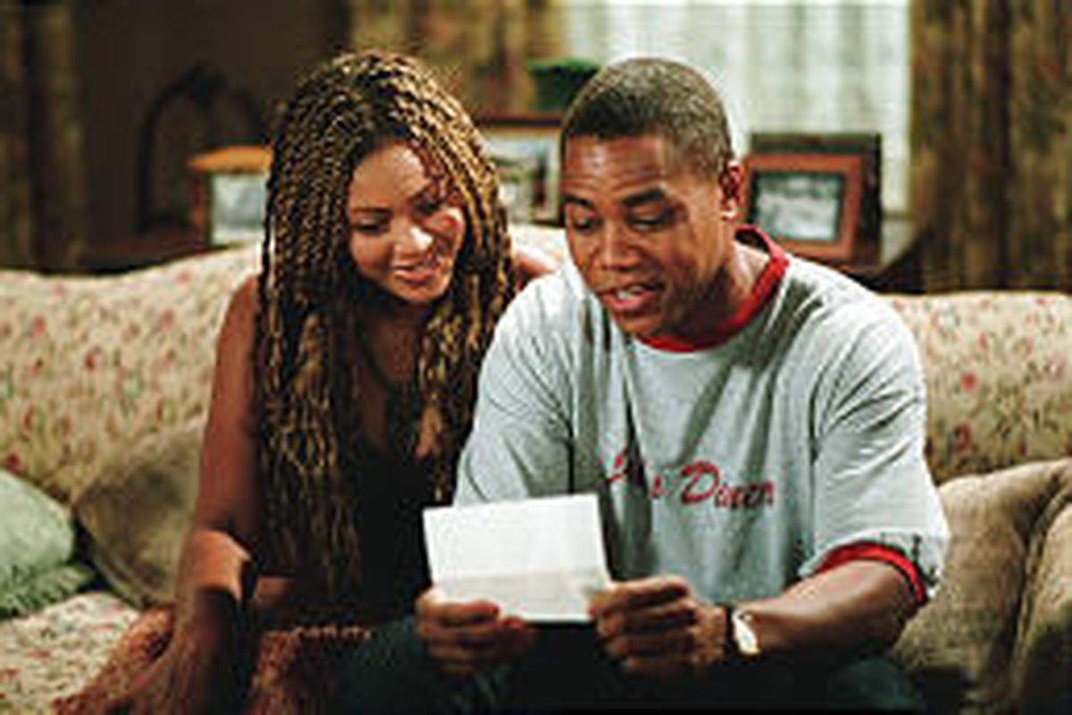 """Beyonce Knowles and Cuba Gooding Jr. in """"The Fighting Temptations,"""" which is being screened Saturday."""