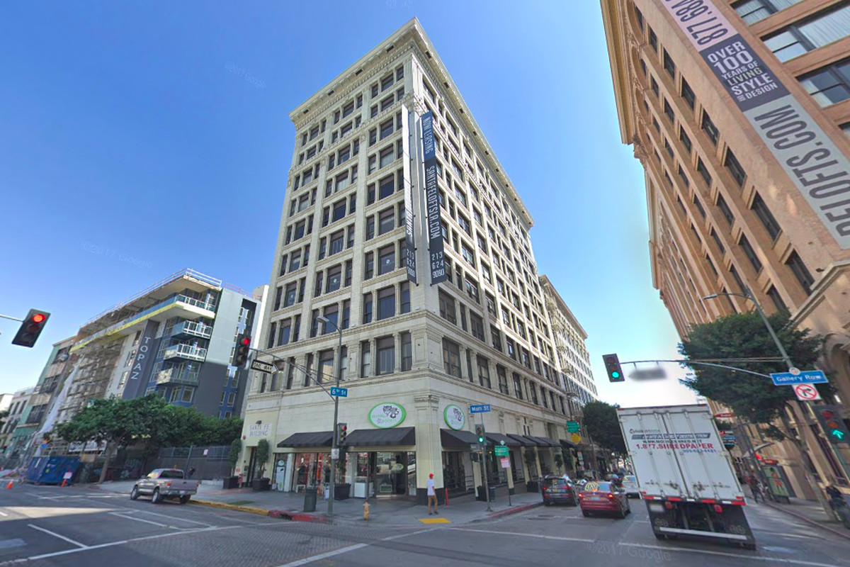 A street view photo of the Santa Fe Lofts building.
