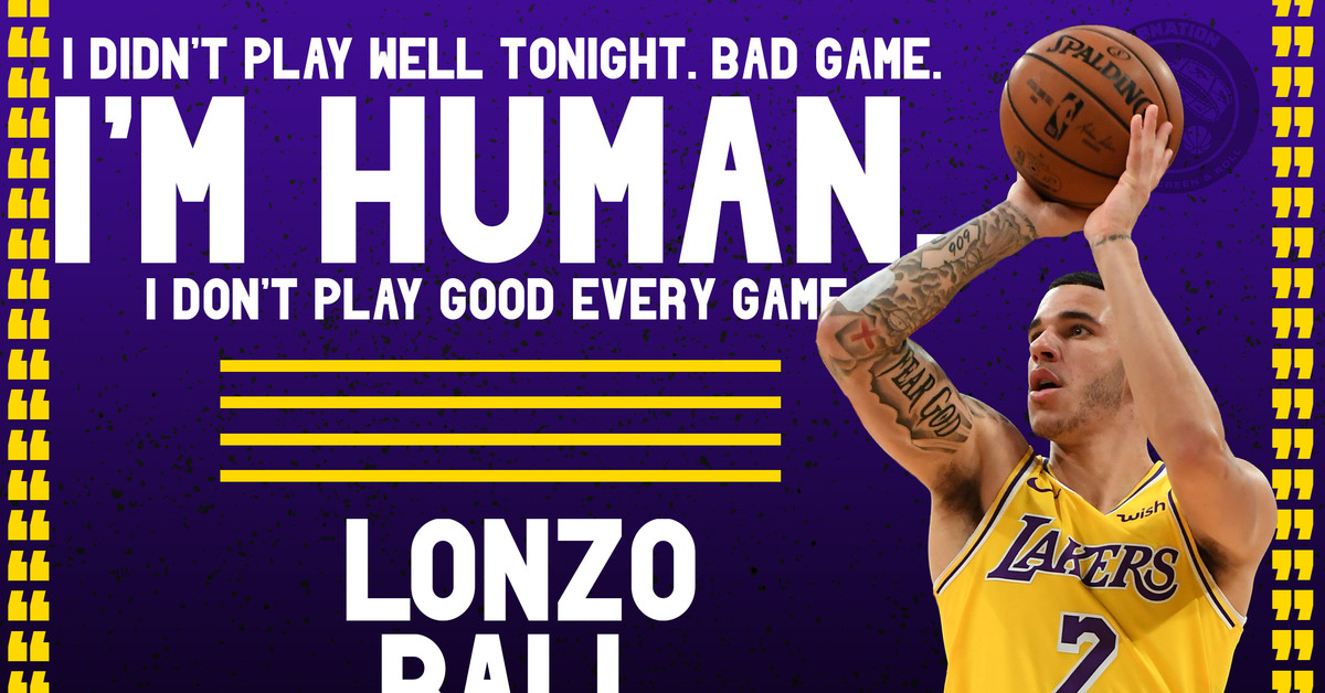 La Lakers Lonzo Ball Stats >> Lakers News: Lonzo Ball admits he had a 'bad game' in loss to Spurs - Silver Screen and Roll