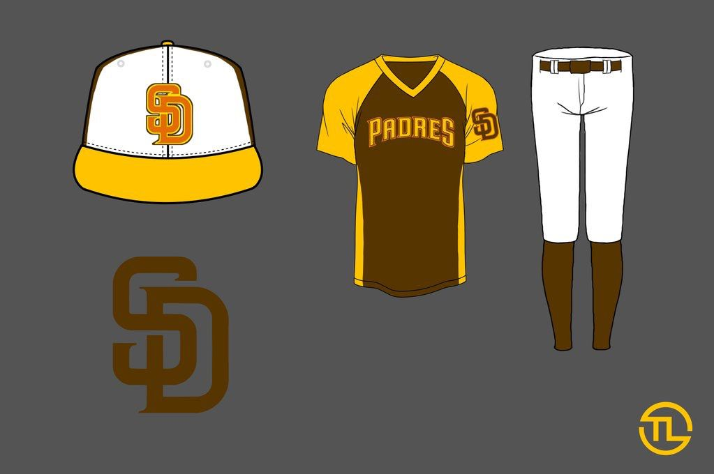 Padres redesign friar friday brown gold uniform jersey