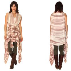 """For the beach-going bohemian: Brown Bark Double Chiffon Vest Wrap, <a href=""""http://sabelmade.com/shopsabel/brown-bark-vest-wrap-double-chiffon"""">$218</a> at SAbel"""