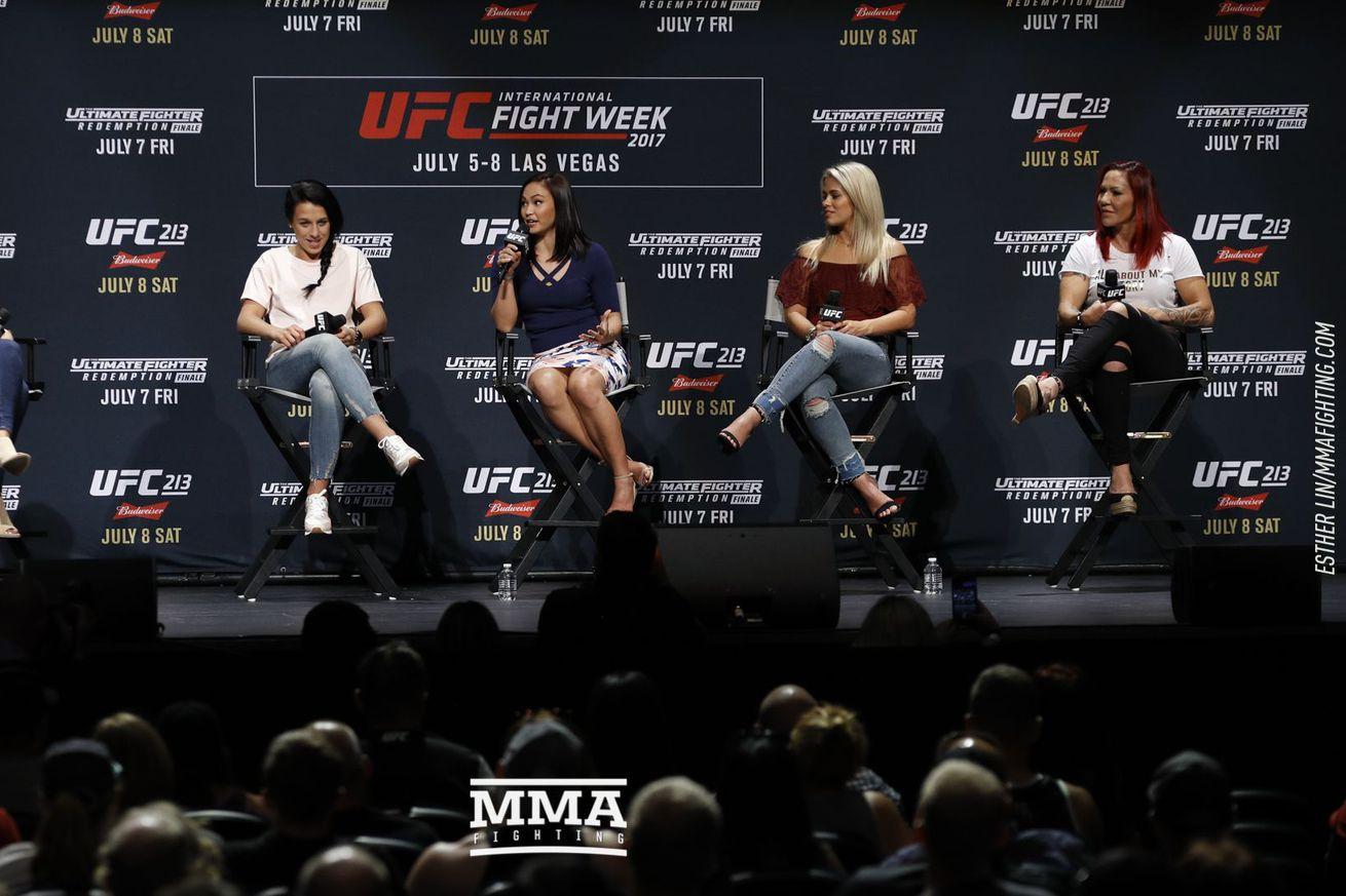 Women of UFC panel with Cris Cyborg, Paige VanZant, Michelle Waterson and Joanna Jedrzejczyk