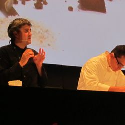 Chefs Mikel Alonso and Bruno Oteiza of Biko, Mexico City. (Not Pictured: Gerard Bellver.)