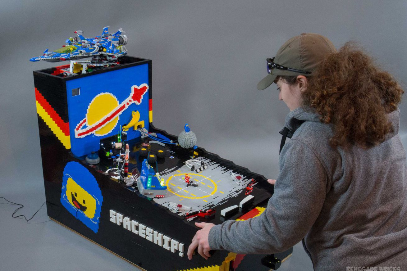 with immense patience you can make a pinball machine out of lego