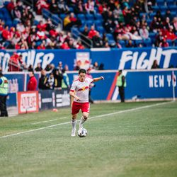 There he is: Connor Lade back in action for RBNY