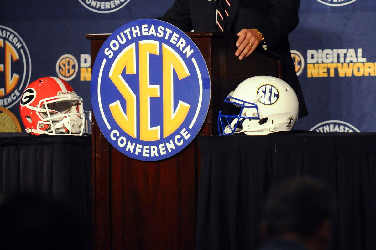 July 19, 2012; Hoover, AL, USA;  Georgia Bulldogs coach Mark Richt answers questions during the 2012 SEC media days press conference at the Wynfrey Hotel. Mandatory Credit: Kelly Lambert-US PRESSWIRE