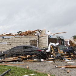 A home had its roof torn off after a tornado ripped through Monroe, La. just before noon on Sunday, April 12, 2020 causing damage to a neighborhood and the regional airport.