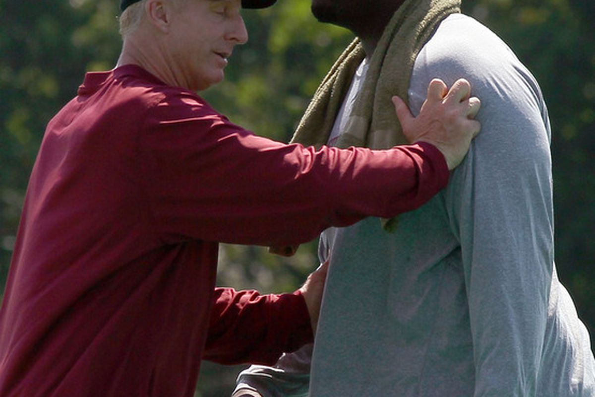 Jim Haslett is a very hands on coach...
