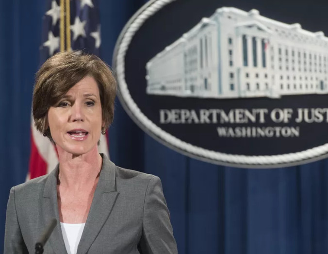 Acting Attorney General Sally Yates was fired after refusing to defend Trump's executive order Monday night.