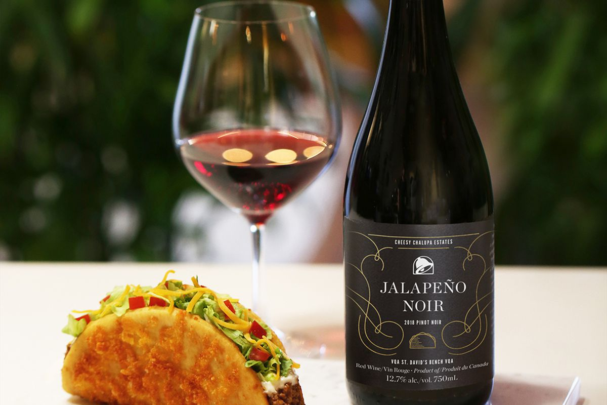 taco bell chalupa and wine