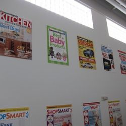 Covers from all Consumer Reports' magazine line the walls of the main hall