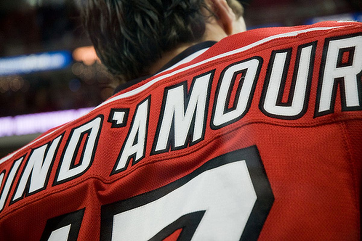 """Carolina Hurricanes Captain, Rod Brind'Amour, is ready to start his 21st NHL season.  (Unique photo from Lalitree's <a href=""""http://www.flickr.com/photos/l-dogg/3460415059/"""" target=""""new"""">album</a>)"""