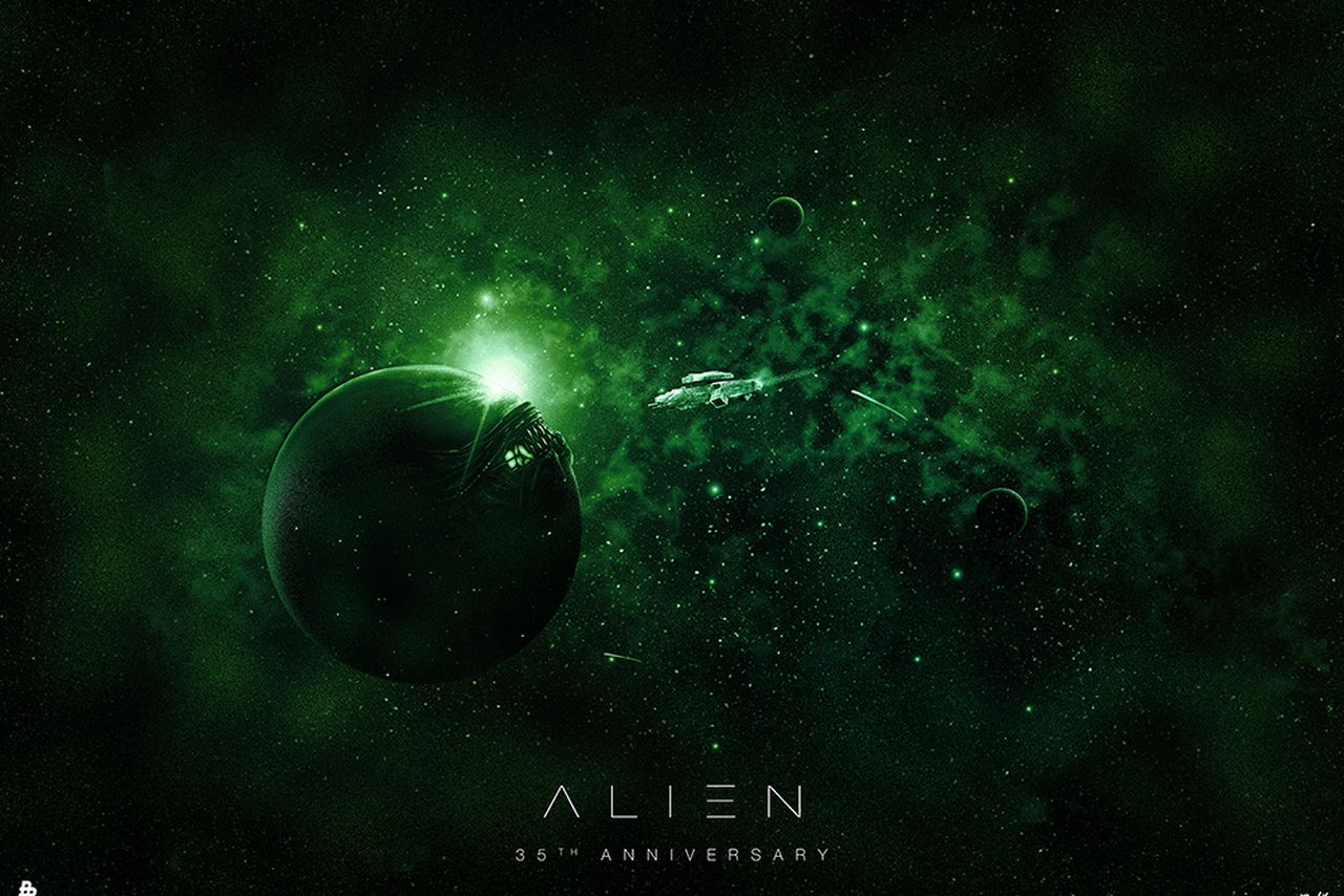 These alien 35th anniversary posters are gorgeous and gruesome the