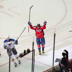 Ovechkin Celebrates Second