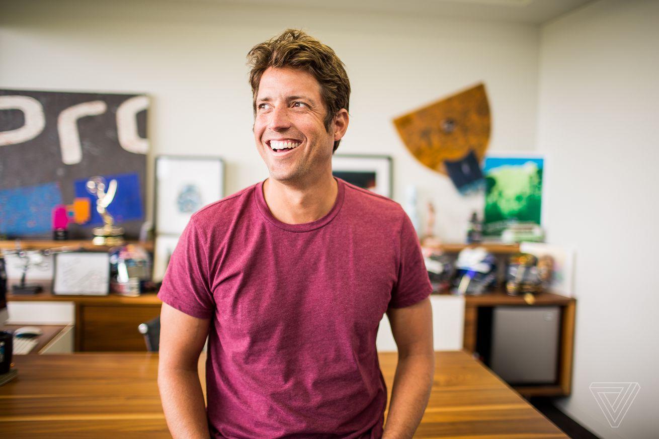 <em>GoPro CEO Nick Woodman in his office in 2016.</em>