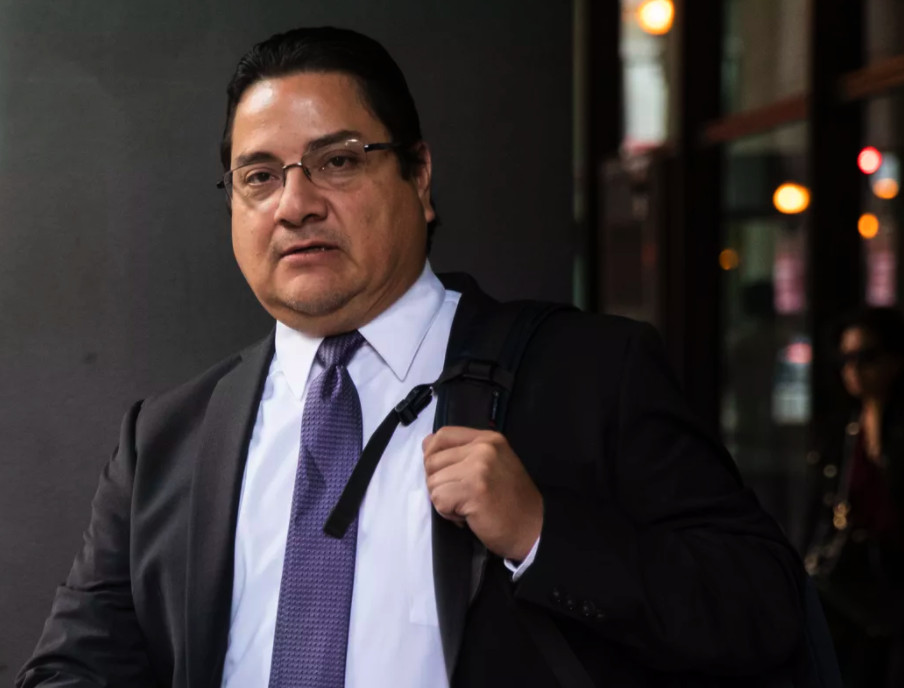 Former police Sgt. Xavier Elizondo in June at the Dirksen federal courthouse in Chicago, where he was sentenced to about seven years in prison in a corruption case.