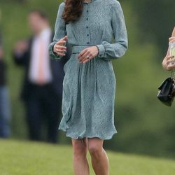 In a short Libelula dress for a charity polo match on May 13th, 2012.
